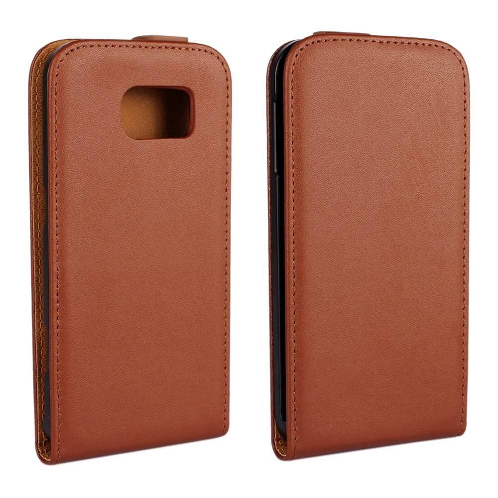 Samsung Galaxy S6 Flipcase bruin