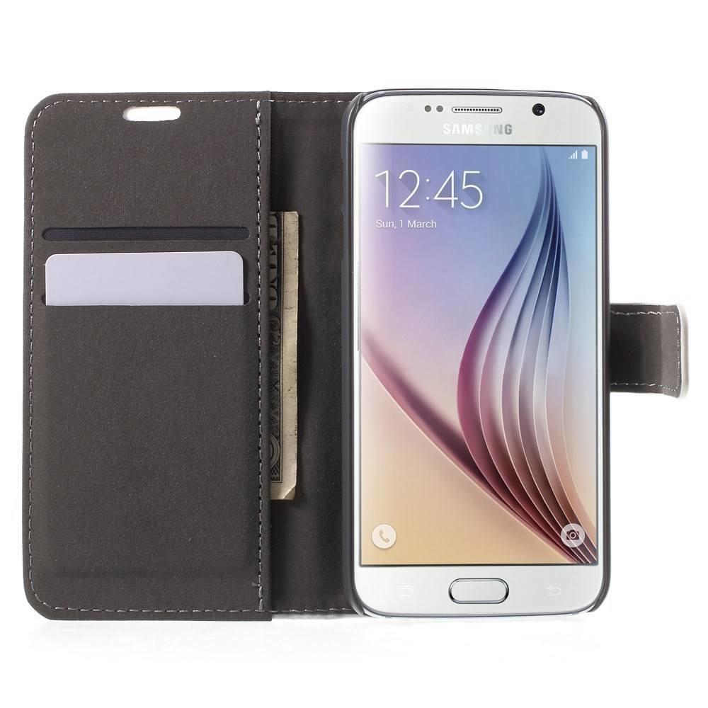 Samsung Galaxy S6 portemonnee hoesje wit