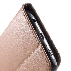 Samsung Galaxy S6 portemonnee hoesje champagne Roze