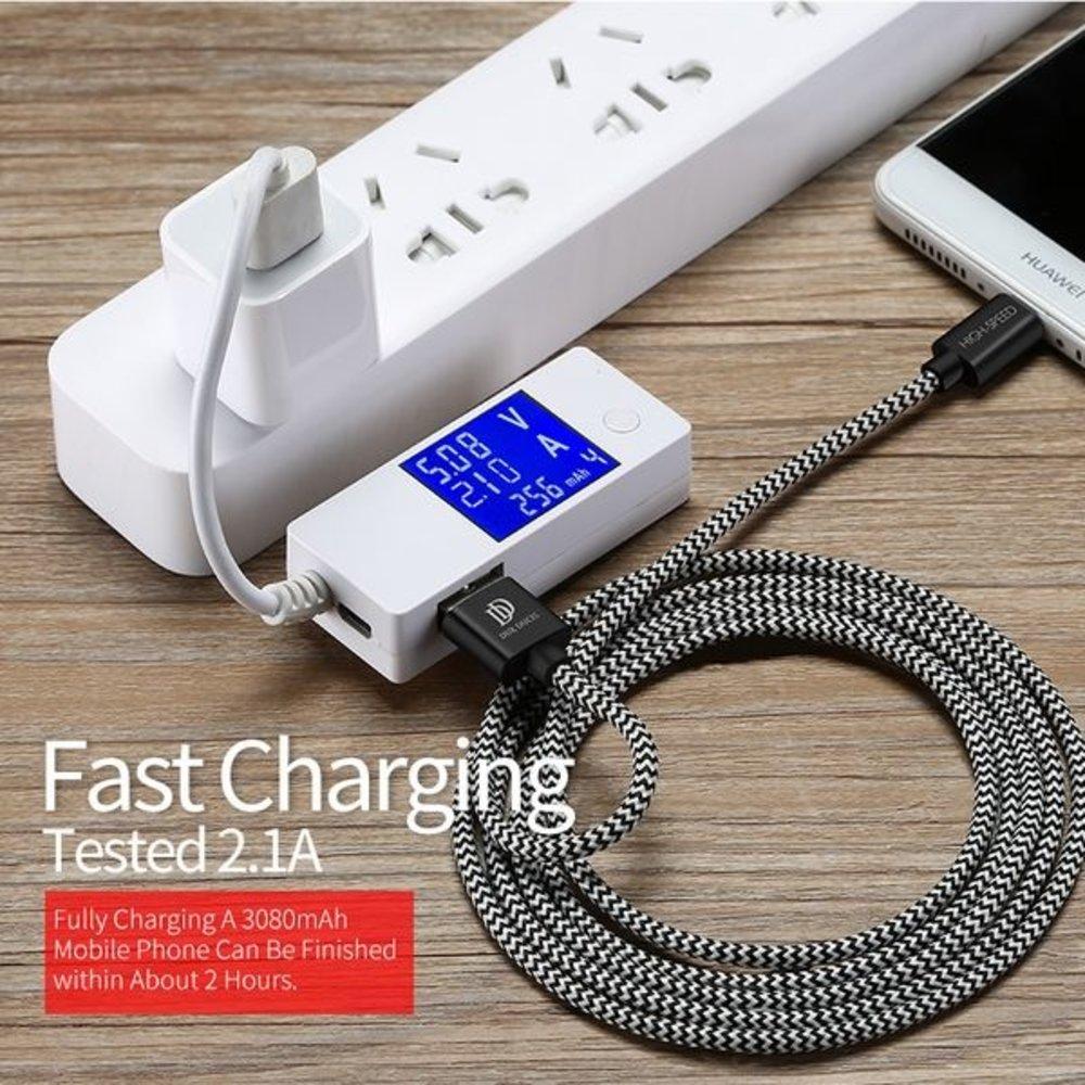 Dux Ducis USB-C kabel gevlochten koortje lekker sterk