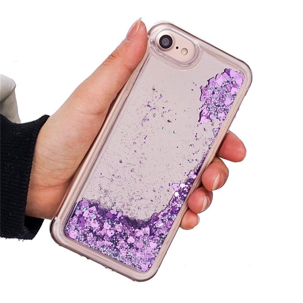 Glitter water hoesje paars