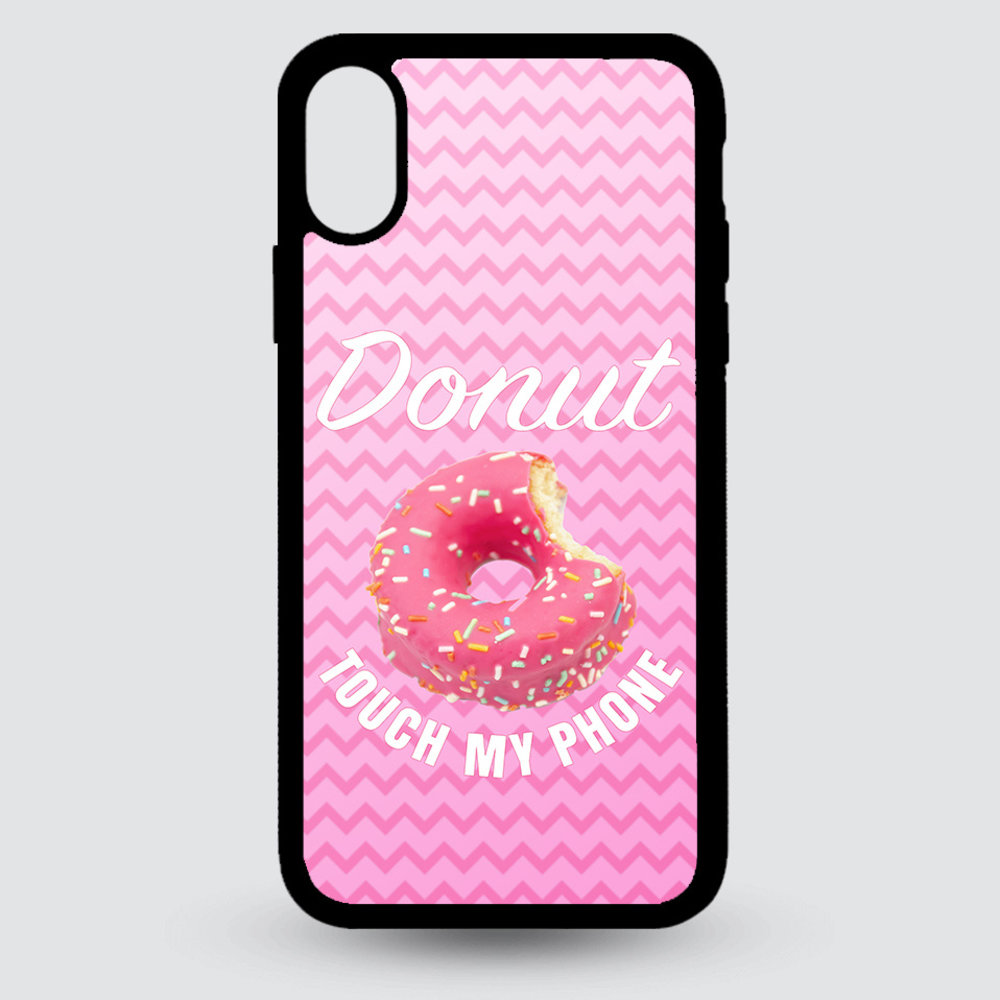 Artbandits iPhone X en Xs - Donut touch my phone!