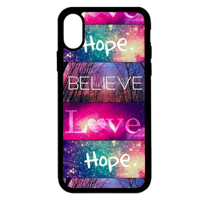 Artbandits iPhone X en Xs - Believe Love Hope