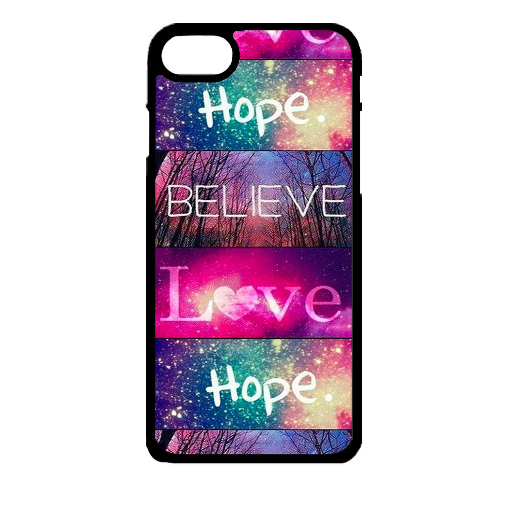 Artbandits iPhone 7 en iPhone 8 - Believe Love Hope