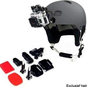 sportscam Helm front mount kit met 2x 3M plakker, GoPro helmet mount