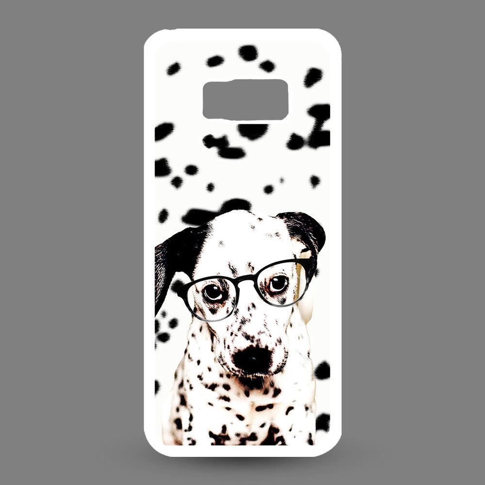 Artbandits Samsung Galaxy S8+ Dalmatier pup met bril