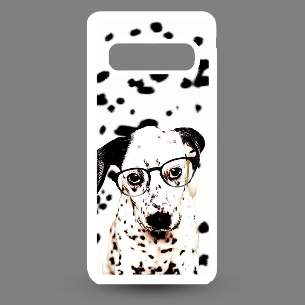 Artbandits Samsung S10 - Dalmatier pup met bril