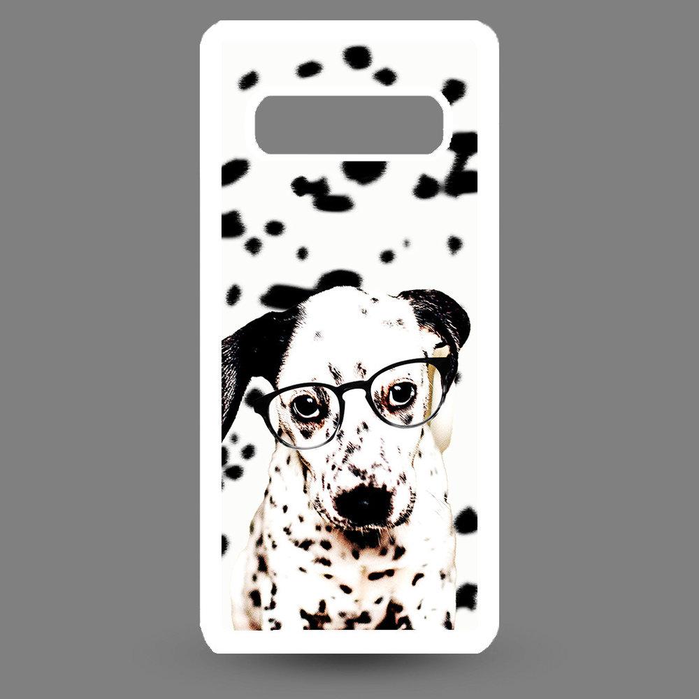 Artbandits Samsung S10+ Dalmatier pup met bril