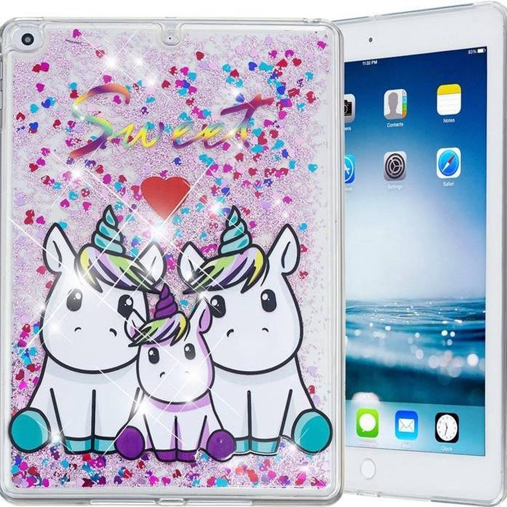 iparts4u 3 Unicorns Siliconen Bescherm Hoes iPad 2017/2018/Air 1/2