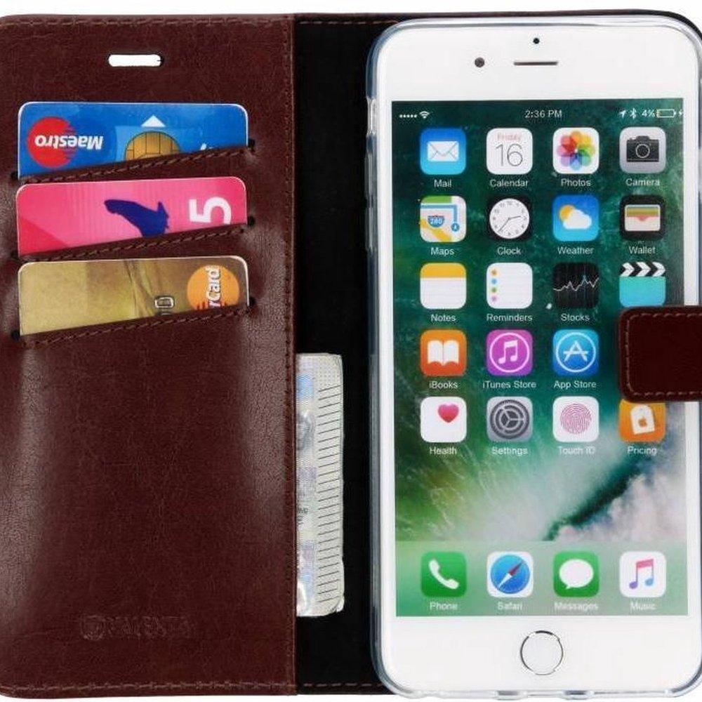 Valenta Leather Booktype iPhone 8 Plus / 7 Plus / 6(s) Plus hoesje - Bruin