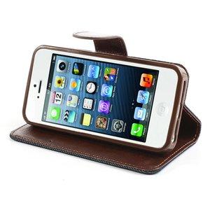 Spijkerstof iPhone 5/5S portemonnee hoesje