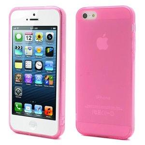 Roze transparant iPhone 5/5S TPU hoesje