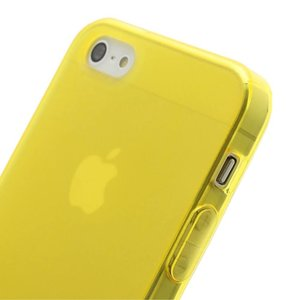 Geel transparant iPhone 5/5S TPU hoesje