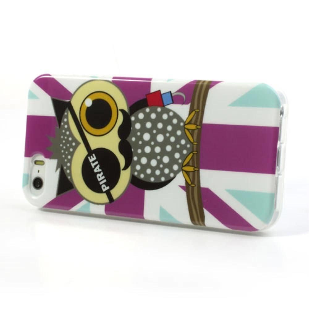 Uiltjes piraat iPhone 5/5S flexibel hoesje
