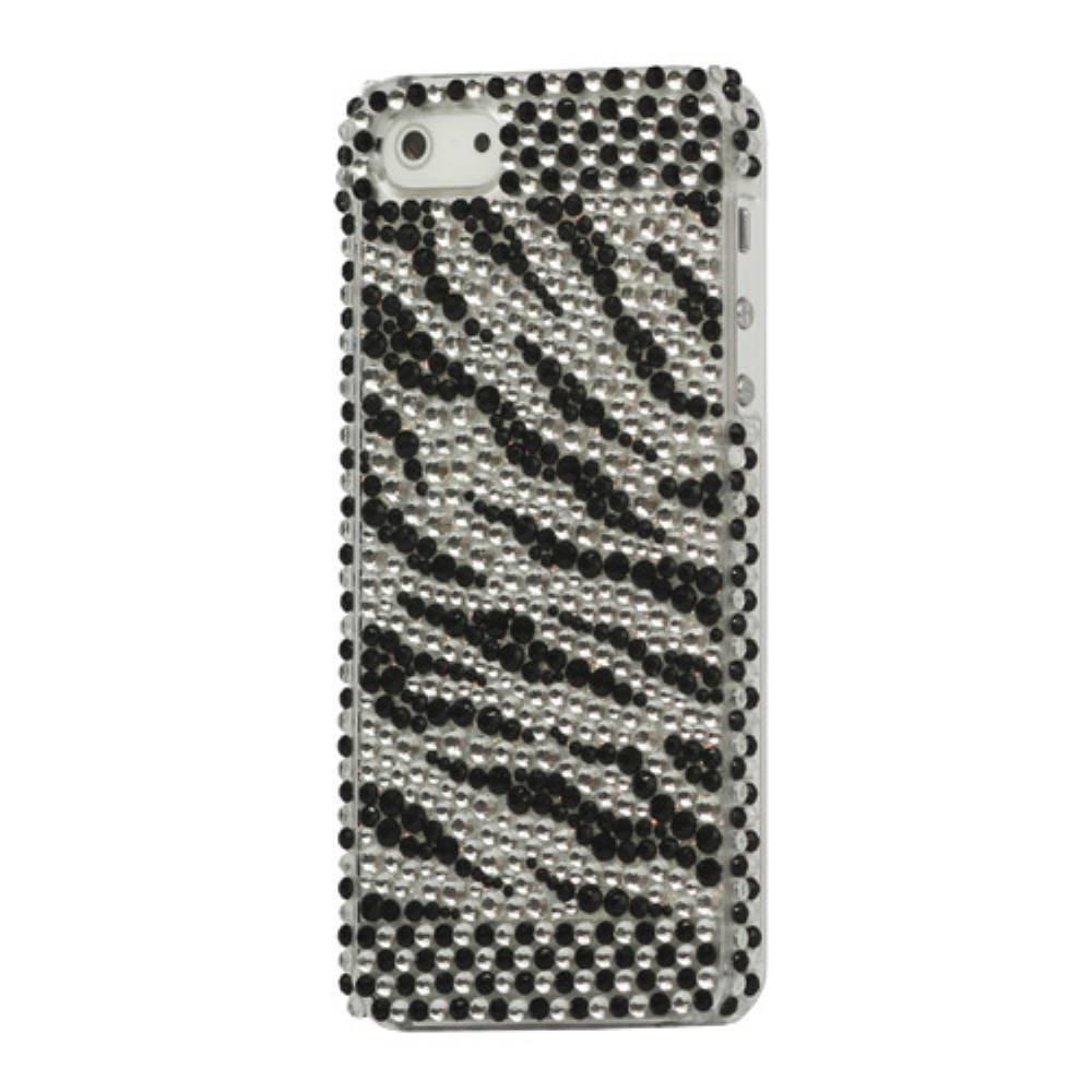 Zebra rhinestone iPhone 5/5S hardcase