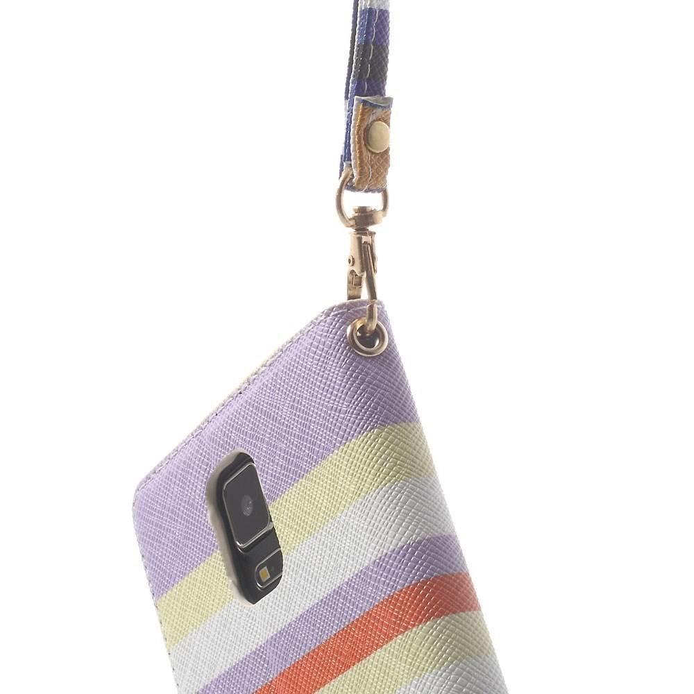 Fleurig gestreepte portemonnee hoes Note 4