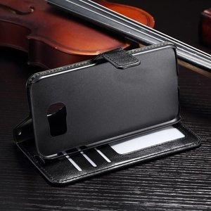 Crazy horse Galaxy S7 zwarte pu leren portemonnee hoesje
