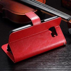 Crazy horse rood pu leren portemonnee hoesje