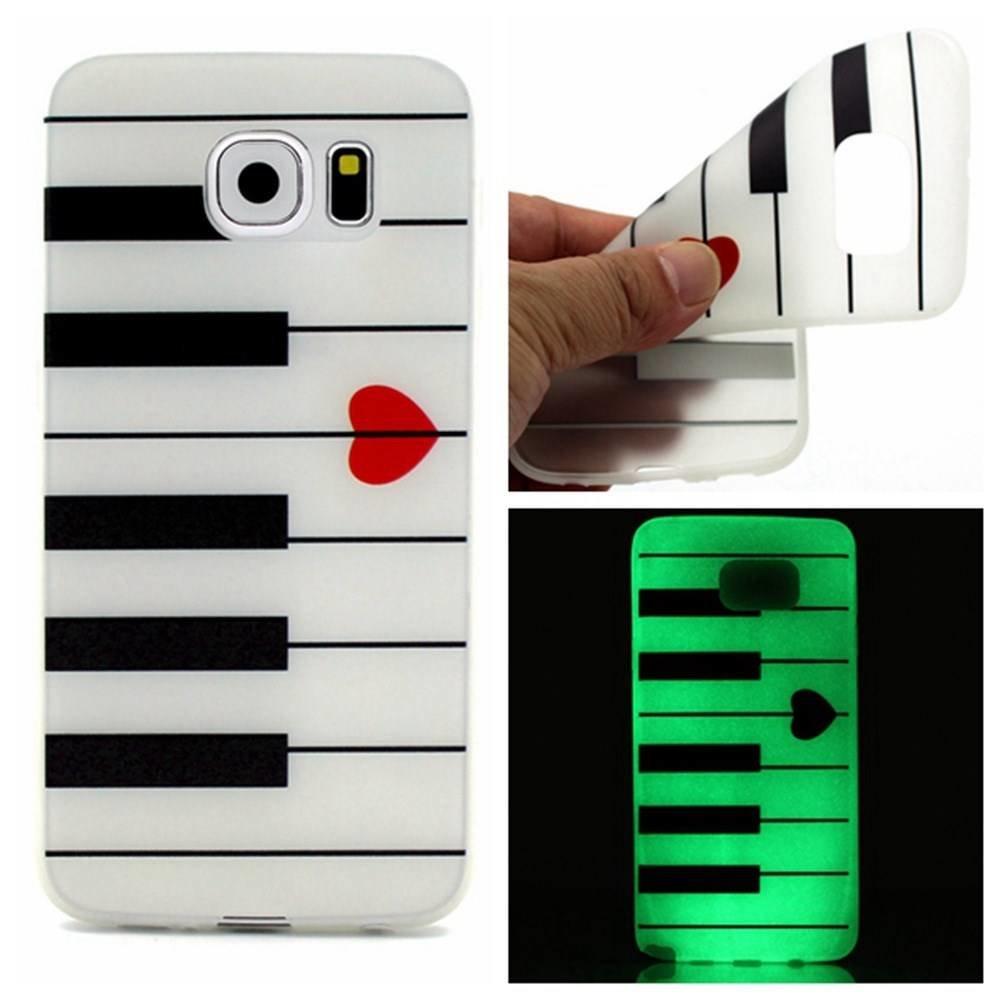 Glow in the dark <3 piano TPU hoesje Galaxy S7 Edge