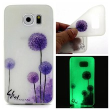 Glow in the dark dandelium TPU hoesje Galaxy S7 Edge