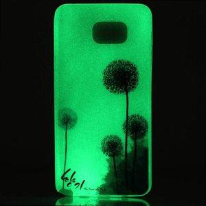 Glow in the dark dandelium TPU hoesje Galaxy S7 Edge