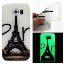 Glow in the dark Eifeltoren TPU hoesje Galaxy S7 Edge