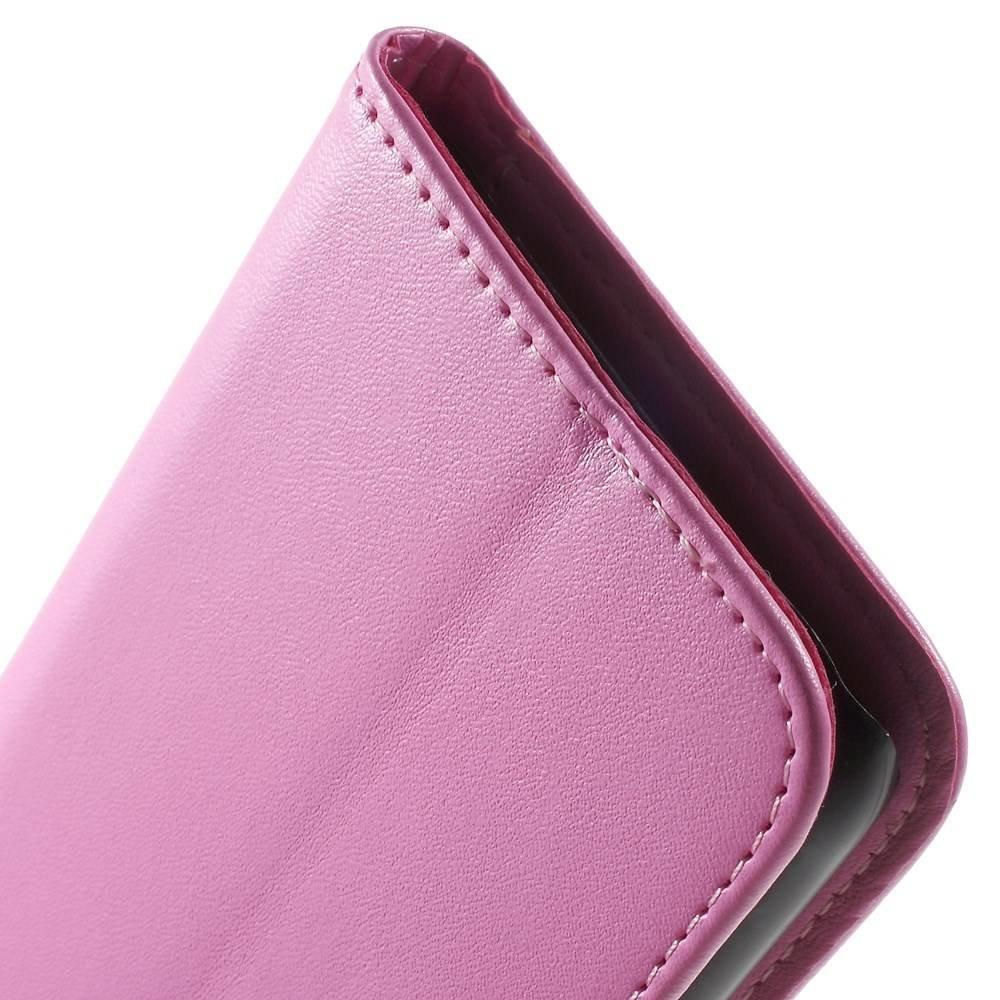 Roze PU lederen Galaxy J5 portemonnee hoesje