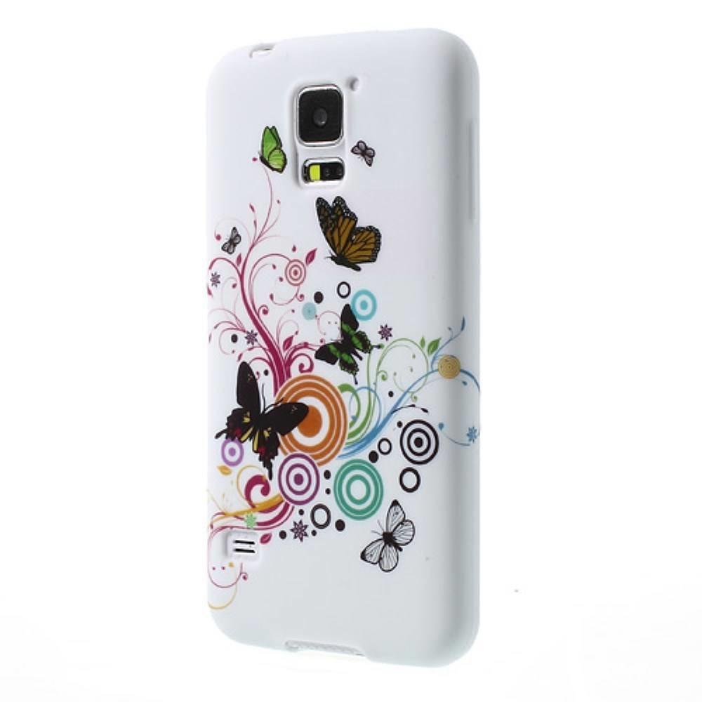 Vlinders en figuren Samsung Galaxy S5 TPU hoesje