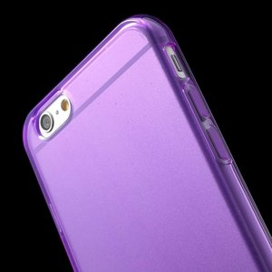 Paarse slimfit TPU hoesje iPhone 6