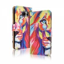 Blackmoon Kleurrijke leeuw iPhone 6 Plus portemonnee hoesje