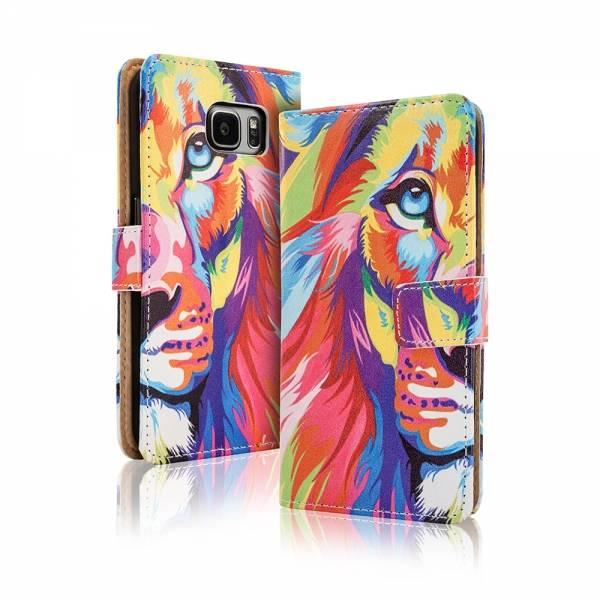Afbeelding van Blackmoon Kleurrijke leeuw iPhone 6 Plus portemonnee hoesje