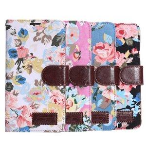 Bloemen portemonnee hoesje Note 4