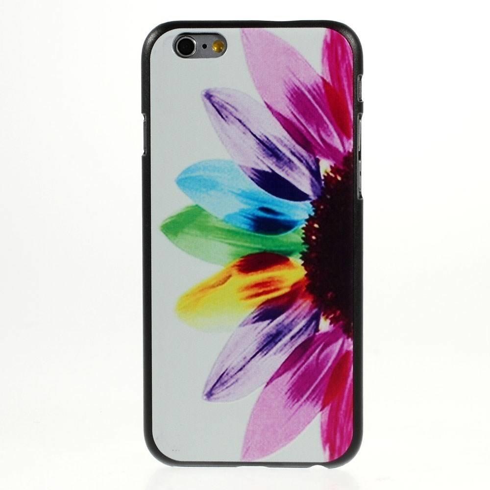 Gekleurde zonnebloem iPhone 6 hardcase