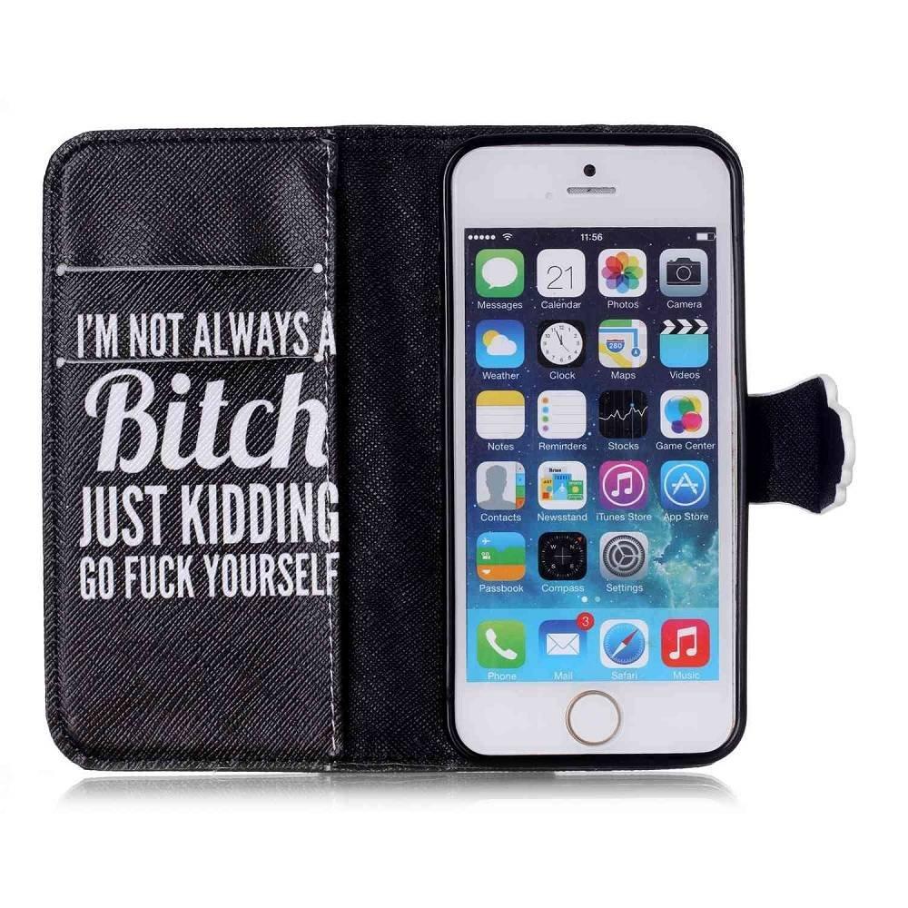 Not always a Bitch portemonnee hoesje iPhone SE,5S,5