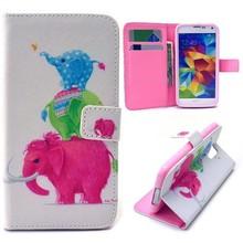 Drie olifantjes portemonnee hoesje voor de Galaxy S5