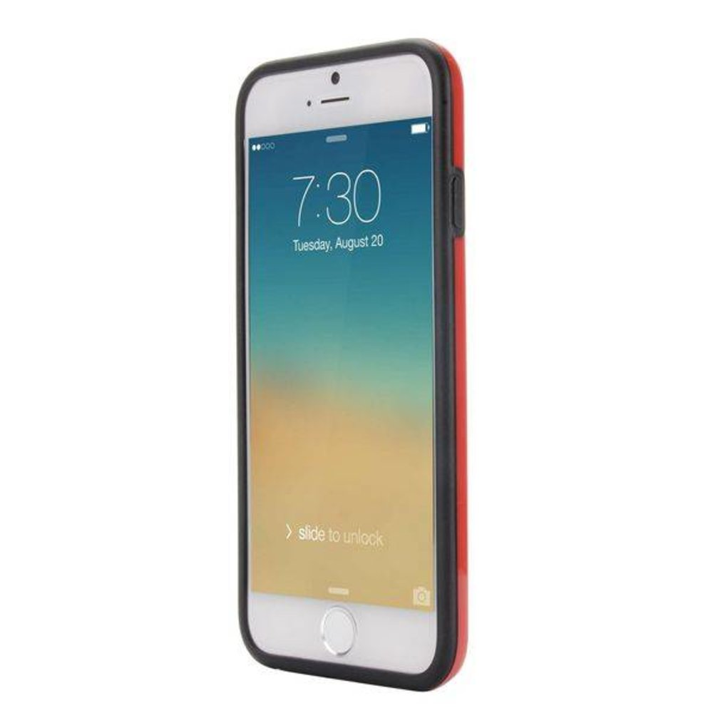 Rood duo protect iPhone 6 TPU hoesje