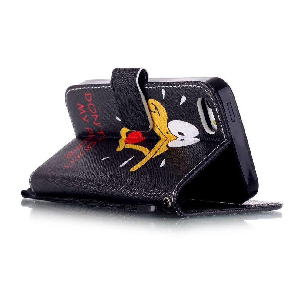 D Duck portemonnee hoesje voor iPhone SE, 5, 5S
