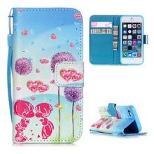 Paardenbloemen Wallet case voor iPhone SE, 5, 5S