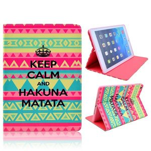 Keep calm and Hakuna Matata iPad Air bookcase