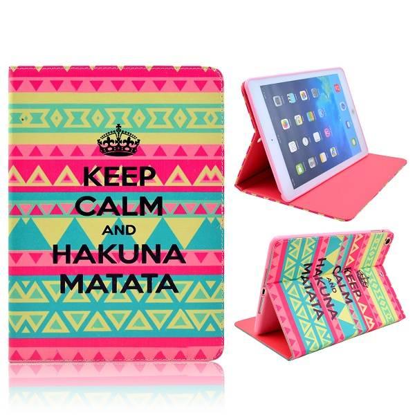 Keep calm and Hakuna Matata iPad Air bookcase