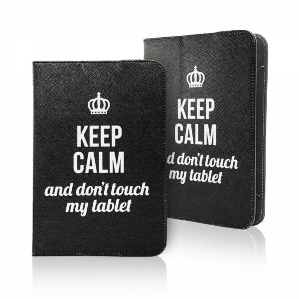 Keep calm and don't touch my tablet universeel 7 - 8 inch tablet hoes
