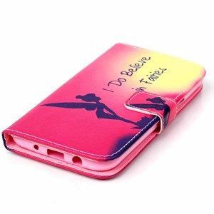 I believe in Fairies portemonnee hoesje voor de Samsung Galaxy J5