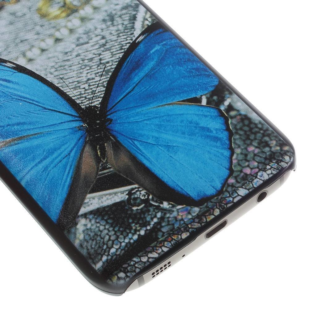 Blauwe vlinder Hardcase hoesje Samsung Galaxy S7