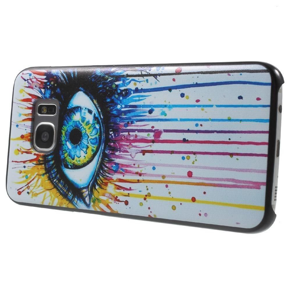 Kleurrijk oog Hardcase hoesje Samsung Galaxy S7 edge