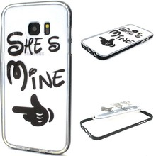 She's Mine 2 in 1 bumper en tpu hoesje Galaxy S7 edge