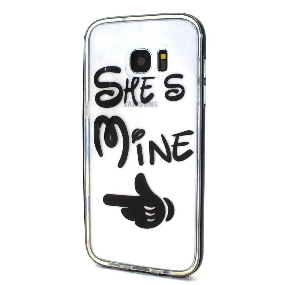She's Mine 2 in 1 bumper en tpu hoesje Galaxy S7 edge