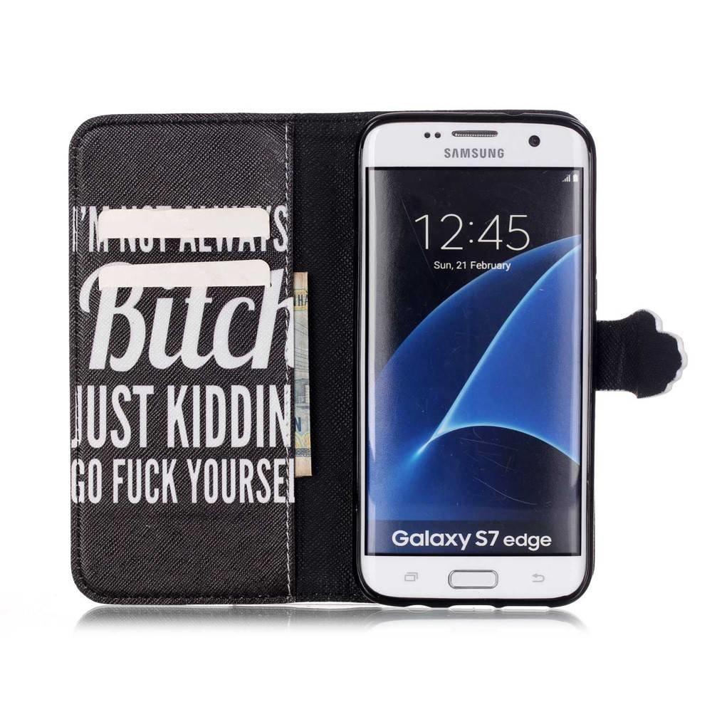 Not always a b*tch Samsung galaxy S7 edge portemonnee hoesje