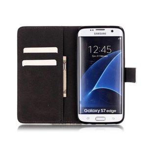 olieverf print eifeltoren Samsung Galaxy S7 Edge Portemonnee hoesje