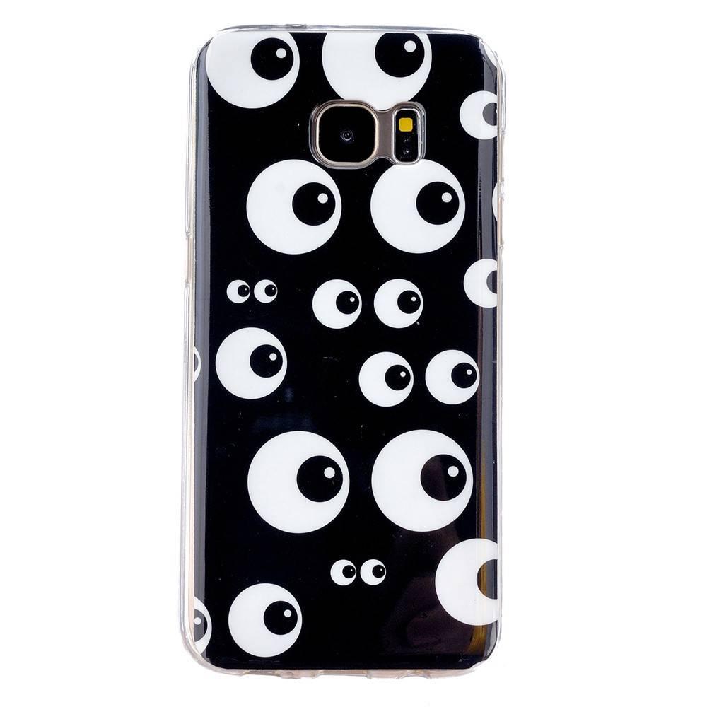 Zwart TPU hoesje vol met ogen Galaxy S7 edge