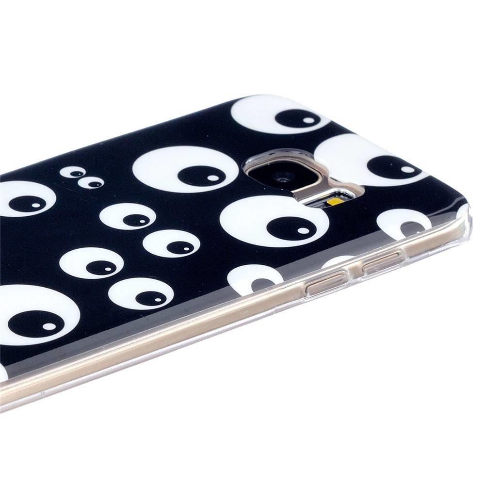 Zwart TPU hoesje vol met ogen Samsung Galaxy S7 edge